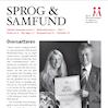Udsnit af forsiden på Sprog & Samfund 2012 nr. 3