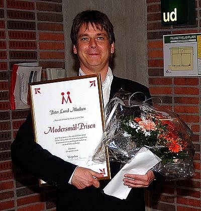 Peter Lund Madsen, modtager af Modersmål-Prisen 2006. Foto: Kaj N. Gøgsig