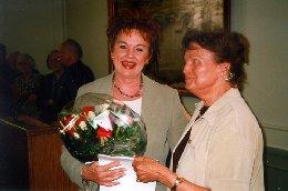 Ghita Nørby, modtager af Modersmål-Prisen 1998