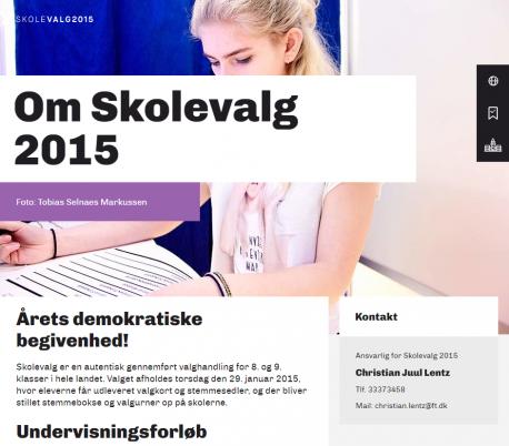 Skærmbillede fra Skolevalg.dk: Om-side til lærerne