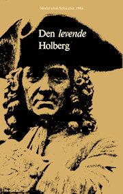 Forside på Modersmål-Selskabets årbog for 1984 med titlen Den levende Holberg