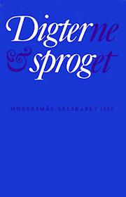 Forsiden på Modersmål-Selskabets årbog for 1986 med titlen Digterne og sproget