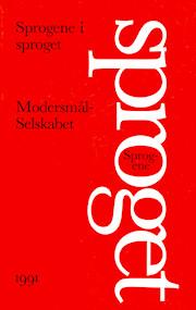 Forside til Modersmål-Selskabets årbog for 1991 med titlen Sprogene i sproget