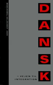 Forside på Modersmål-Selskabets årbog 2000 med titlen Dansk - vejen til integration