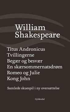 Forsiden på andet bind af Niels Brunses oversættelse af William Shakespeares samlede værker