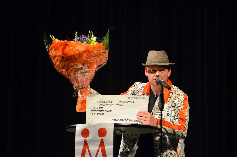 Per Vers fik Modersmål-Prisen 2014