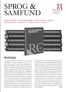 Forside på Sprog & Samfund, som Marianne Jelved fik tilsendt sammen med årbogen for 2012, Sprog og sex