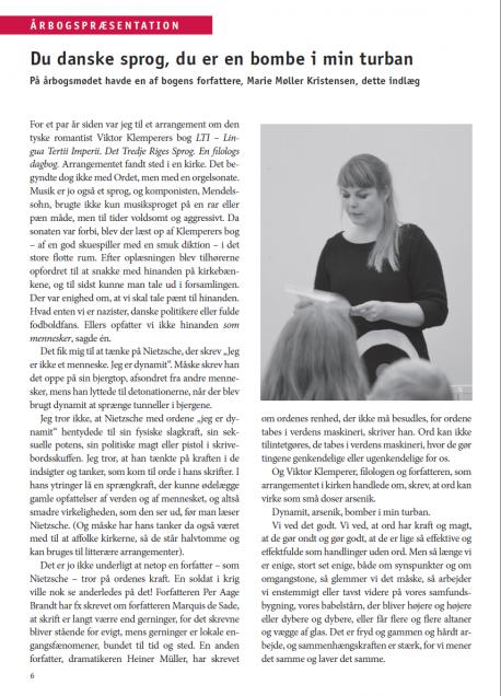 Billede fra præsentation af årbog 2013, Ord til hinanden, i Sprog og Samfund 2013 nr. 4